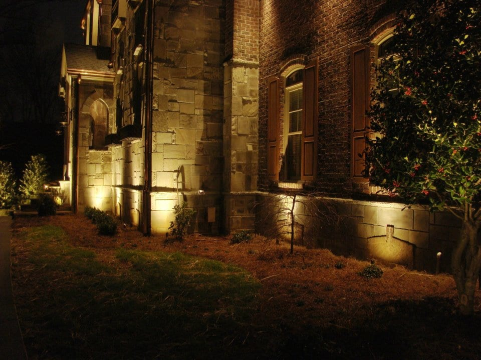 Comparing uplighting and downlighting what fits best for for Exterior uplighting