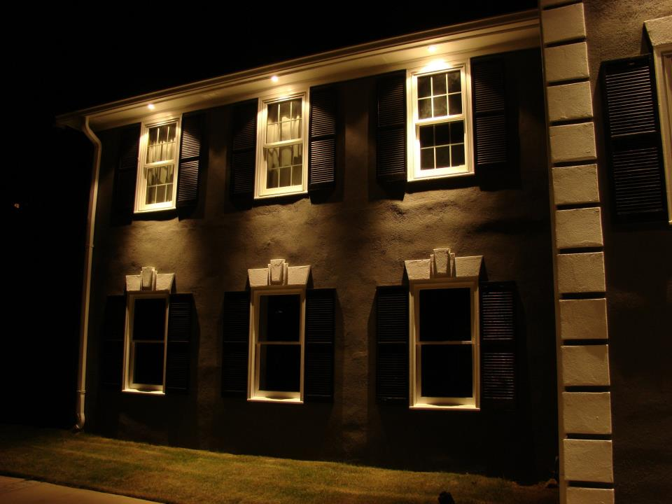 What does the process of installing professional exterior lighting entail