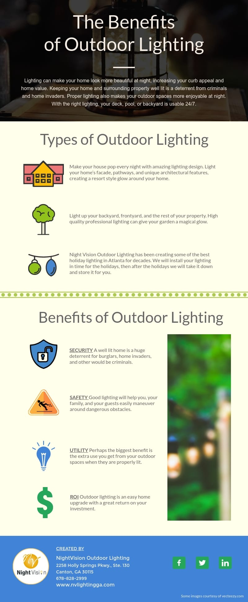 The Benefits of Outdoor Lighting for Your Home [infographic]
