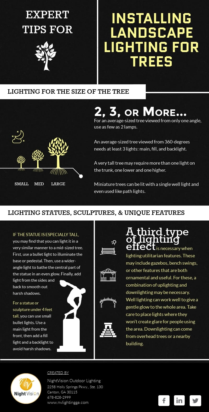 Expert Tips for Installing Landscape Lighting for Trees [infographic]