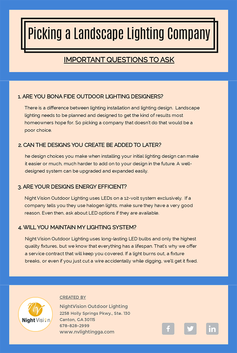 How to Pick a Landscape Lighting Company [infographic]