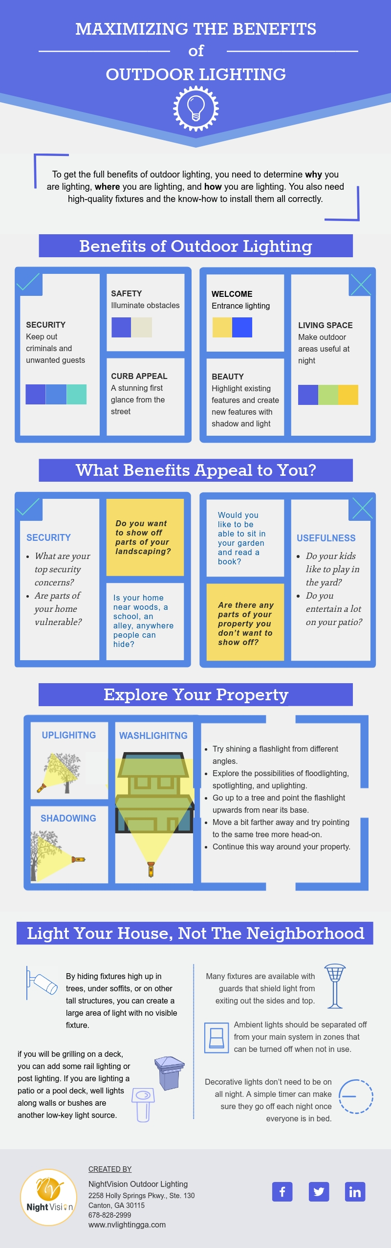 Maximizing the Benefits of Outdoor Lighting [infographic]